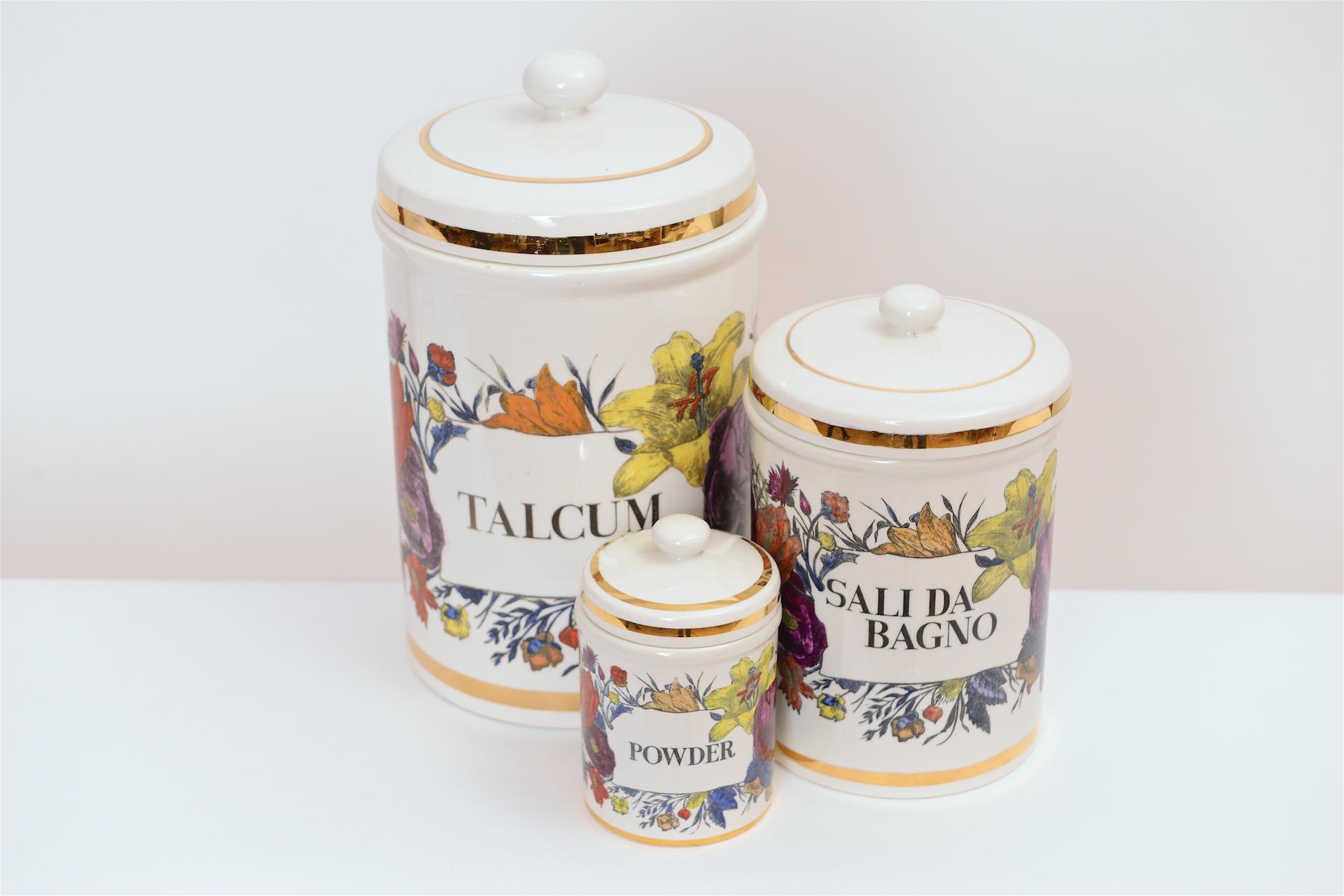 Piero Fornasetti Ceramic Storage Jars