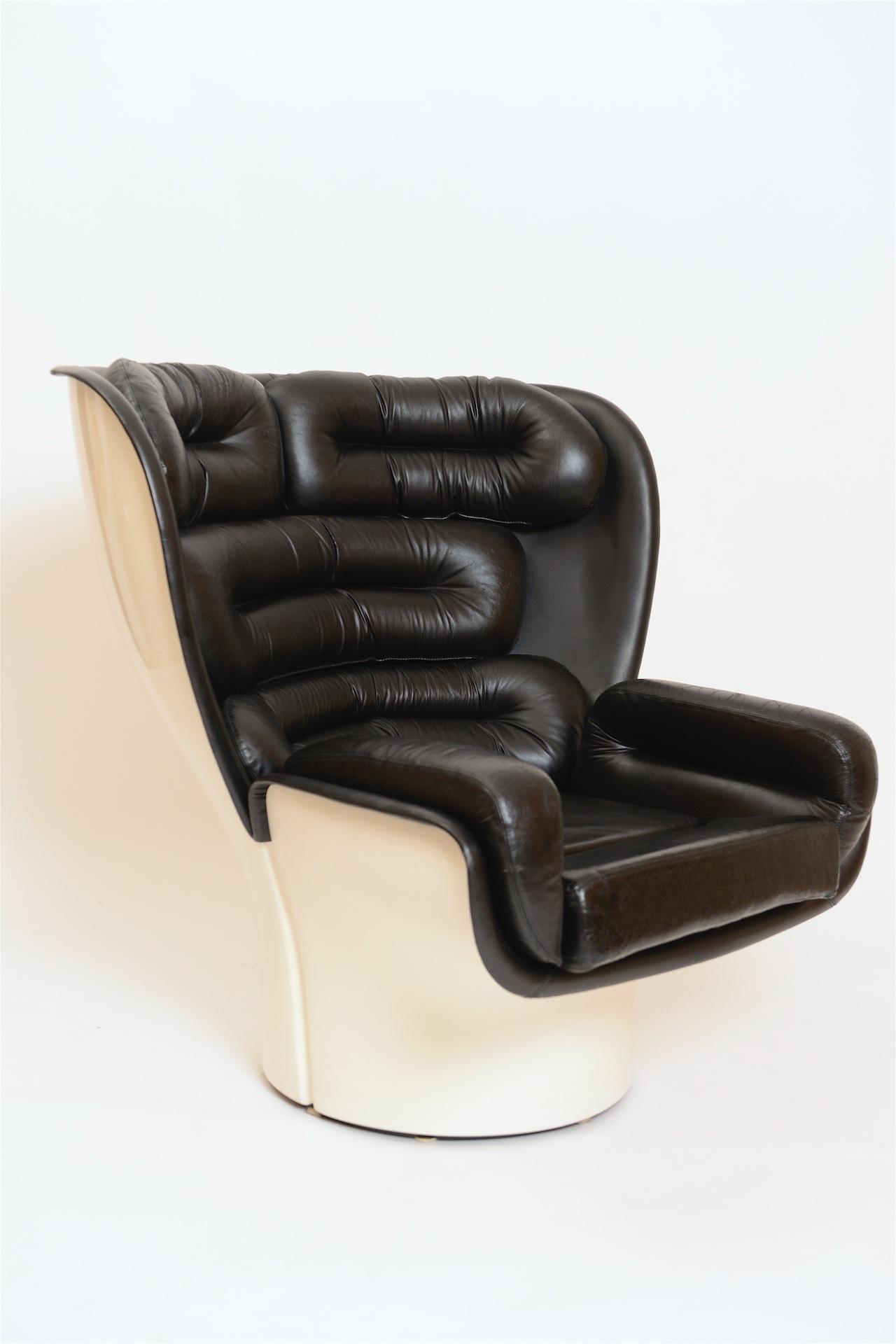 Black And White Elda Chair By Joe Colombo Italy C 1960 Cupio Gallery